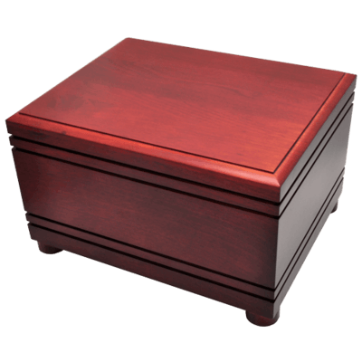 Serenity Cherry Wood Cremation Urn