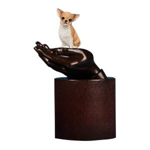 Chihuahua Hands Dog Cremation Urn