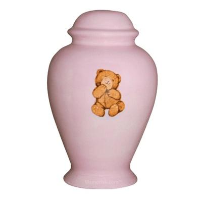 Pink Teddy Bear Cremation Urn