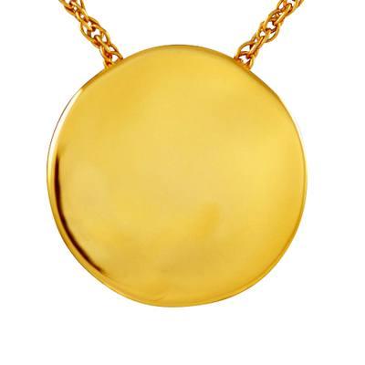 Circle Round Cremation Pendant IV