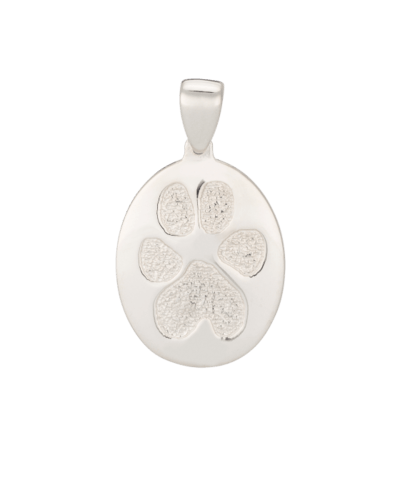 Pet Paw Print Sterling Keepsake Pendant