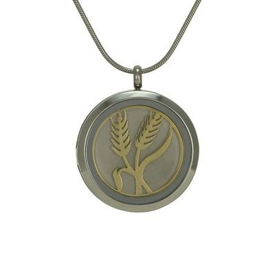 Classic Wheat Cremation Pendant IV