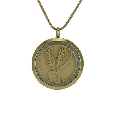 Classic Wheat Cremation Pendant