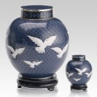 Peace Doves Cloisonne Cremation Urns