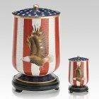 Patriot Cloisonne Cremation Urns