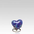 Indigo Butterfly Heart Cloisonne Urn