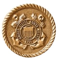 Coast Guard Coin Medallion Appliques