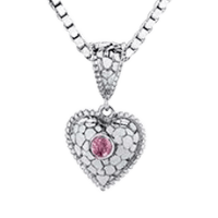 Cobble Heart Cremation Pendant II