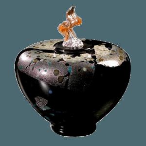Como Blackolodas Glass Cremation Urn