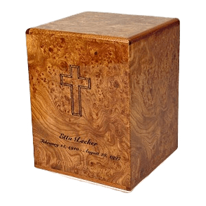 Connell Elm Wood Cremation Urn