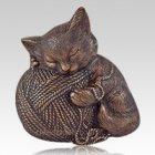 Copper Cat Cremation Urn