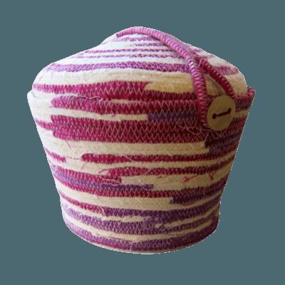 Cotton Pink Organic Cremation Urn