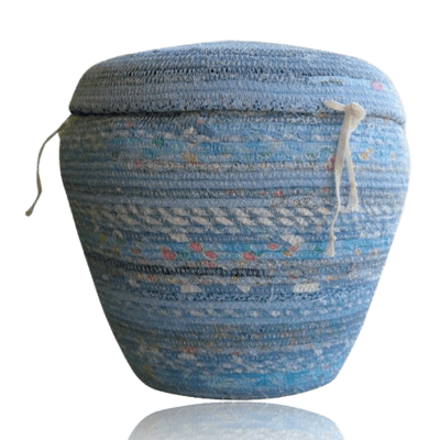 Sky Blue Cotton Cremation Urn