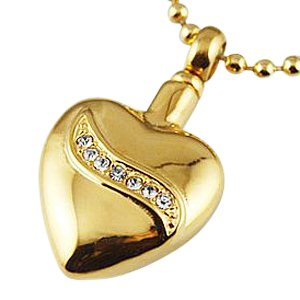 Crystal Swirl Heart Cremation Jewelry II