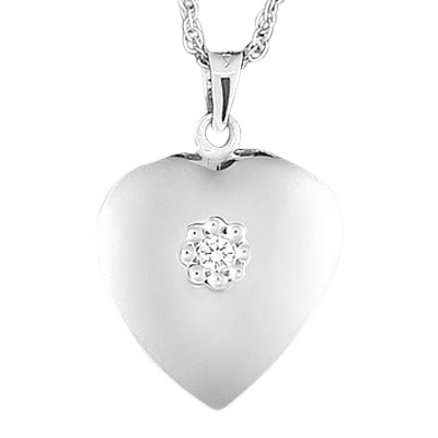 Diamond Heart Keepsake Jewelry