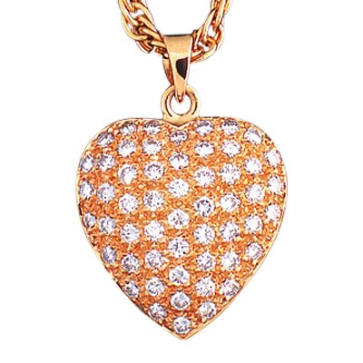 Diamond Pavee Heart Keepsake Jewelry
