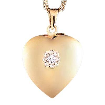 Diamond Heart Keepsake Jewelry II