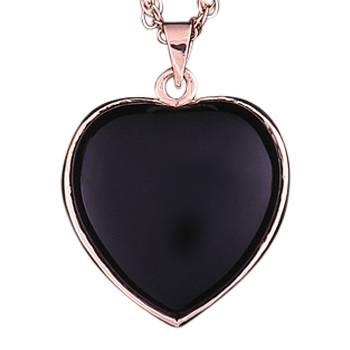 14k Gold Onyx Heart Keepsake Jewelry