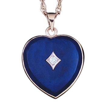 Lapis Lazuli Diamond Heart Keepsake Jewelry