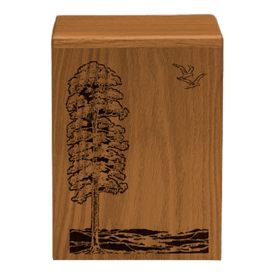 Bountiful Waters Walnut Cremation Urn