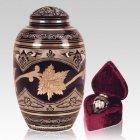 Black Toledo Leaf Cremation Urns