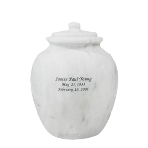 Legacy White Medium Marble Urn