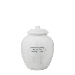 Legacy White Keepsake Marble Urn