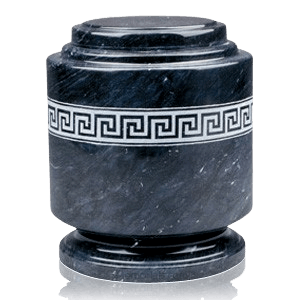 Greek Fret Marble Cremation Urn
