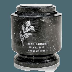 Estate Black Marble Urn