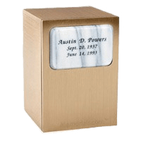 Memories White Marble Cremation Urn