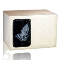 Memories Black Marble Cremation Urn