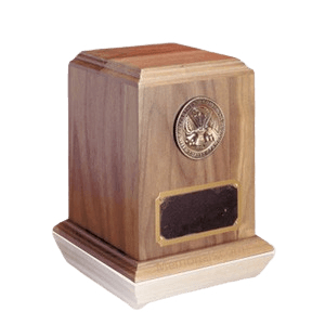 Military Walnut Cremation Urn