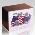 Eagle and Flag Cremation Urn