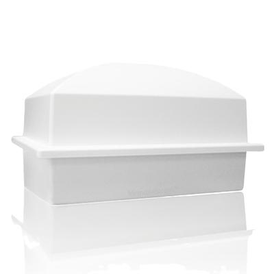 Luxury White Cremation Urn Vault