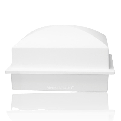 Crown White Cremation Urn Vault