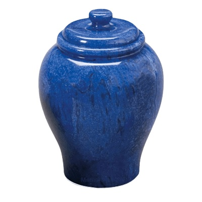 Blue Sky Large Marble Cremation Urn