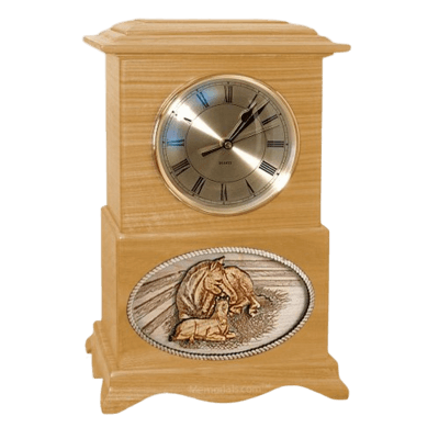 Daddys Love Clock Oak Cremation Urn