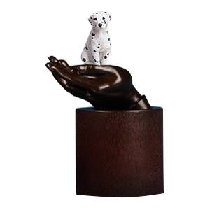 Dalmatian Hands Dog Cremation Urn