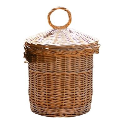 Round Bamboo Cremation Urn