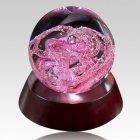 Deluxe Pink Perpetual Glass Keepsake