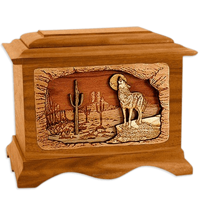 Desert Moon Mahogany Cremation Urn For Two