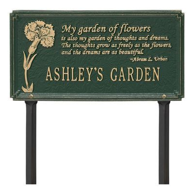 Dianthus Garden Verde Dedication Plaque