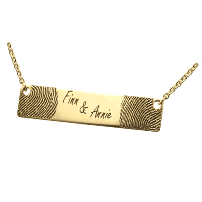 Double Cremation 14K Gold Print Keepsake