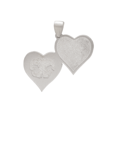 Double Heart Pet Print Keepsakes