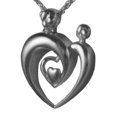 Double Parent Heart Keepsake Pendant