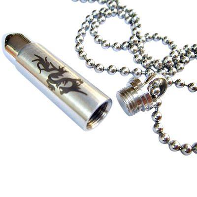 Dragon Bullet Urn Necklace