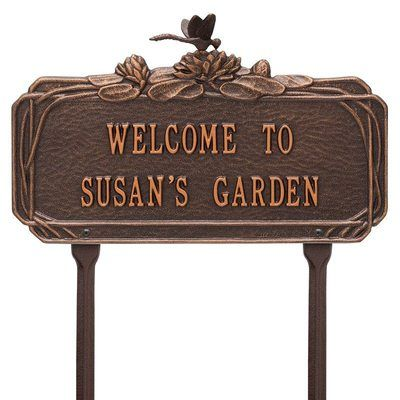 Dragonfly Garden Copper Dedication Plaque