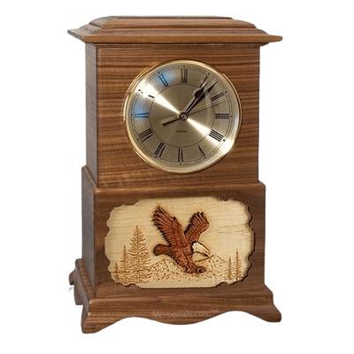 Clock Walnut Cremation Urns