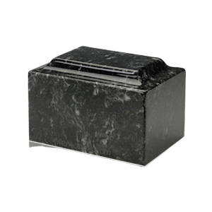 Ebony Marble Medium Urn
