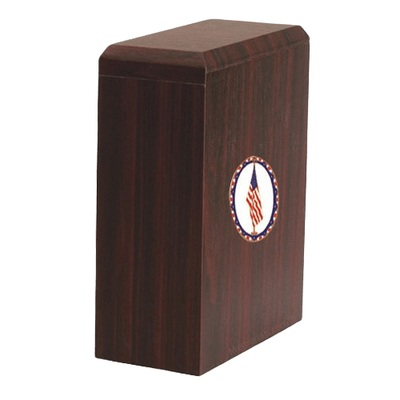 Scottish US Flag Cremation Urn